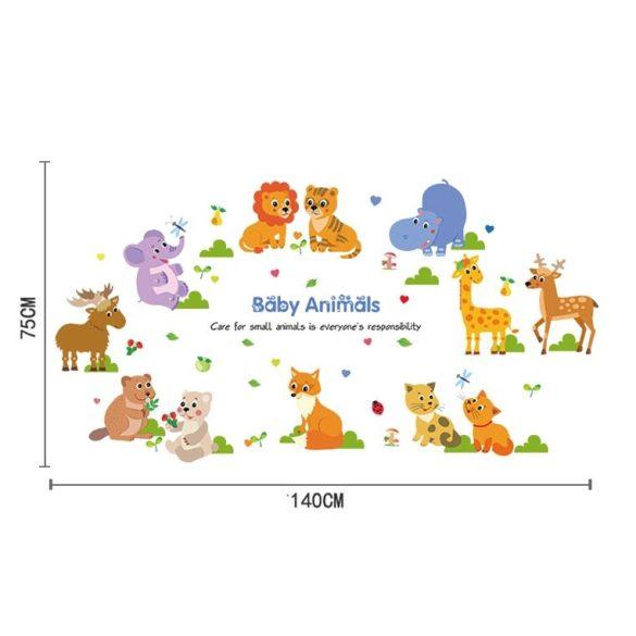 Állatkölykök falmatrica