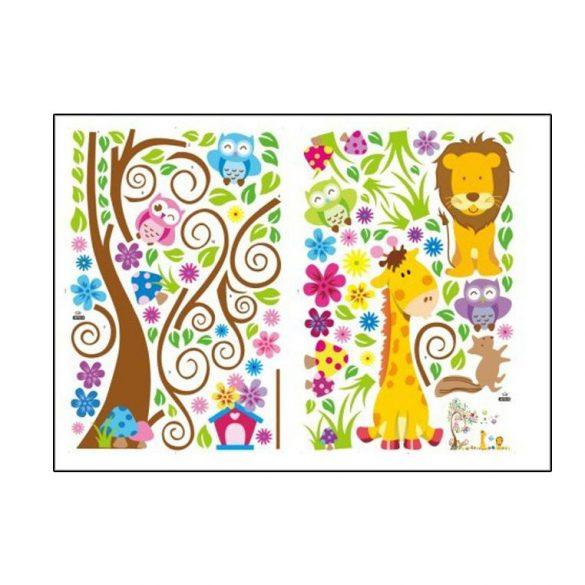 Állatok színes kertje falmatrica