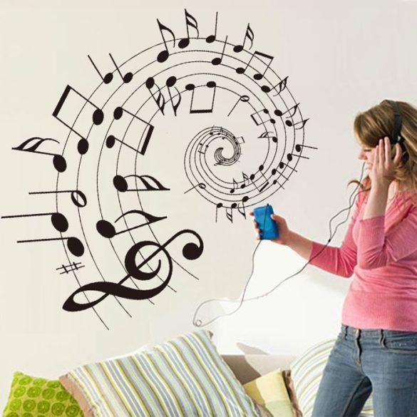 A zene bűvöletében falmatrica