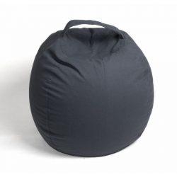 Plüss tároló babzsák fotel - Sötétszürke - NORMAL