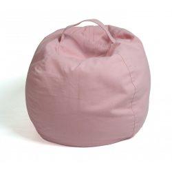Plüss tároló babzsák fotel - Rózsaszín - MAXI
