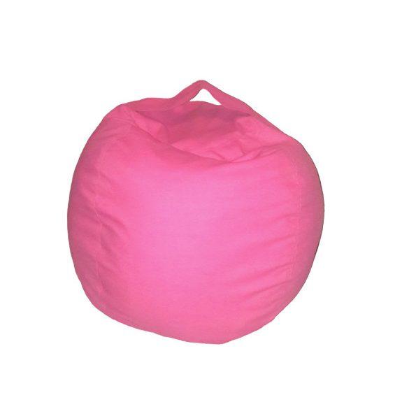 Plüss tároló babzsák fotel - Rózsaszín - MINI