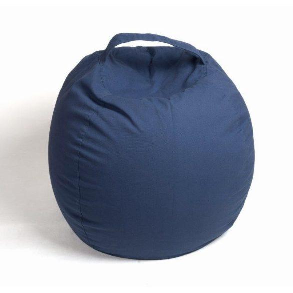 Plüss tároló babzsák fotel - Sötétkék - NORMAL