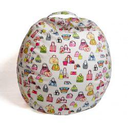 Plüss tároló babzsák fotel - Színes táskák - MAXI
