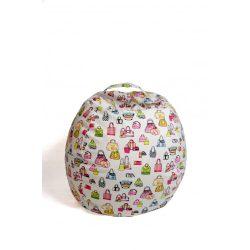 Plüss tároló babzsák fotel - Színes táskák - MINI