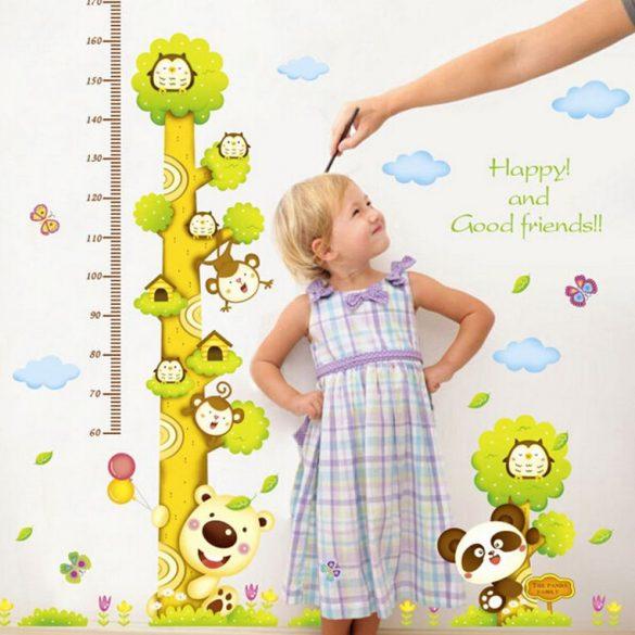 Baglyok, majmok és macik fája magasságmérő