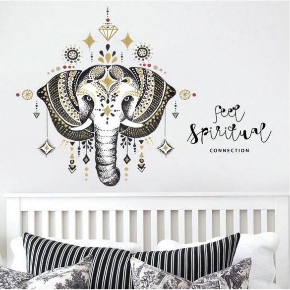 Díszes elefánt falmatrica