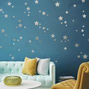 Ezüst csillagos égbolt falmatrica