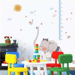 Elefántlány magasságmérős falmatrica