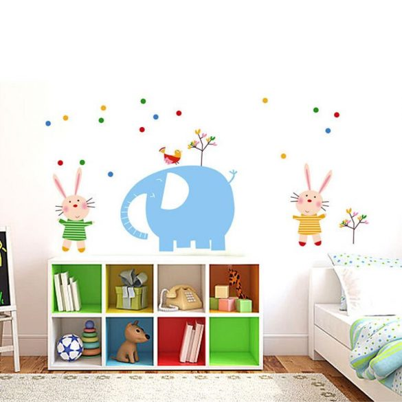 Elefánt és nyuszik falmatrica