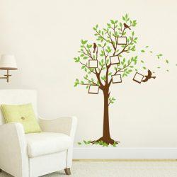 Fotóink fája képkeretes falmatrica