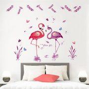 Flamingók tava falmatrica