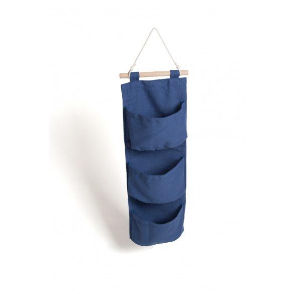 Falra akasztható zsebes tároló - Szilvakék