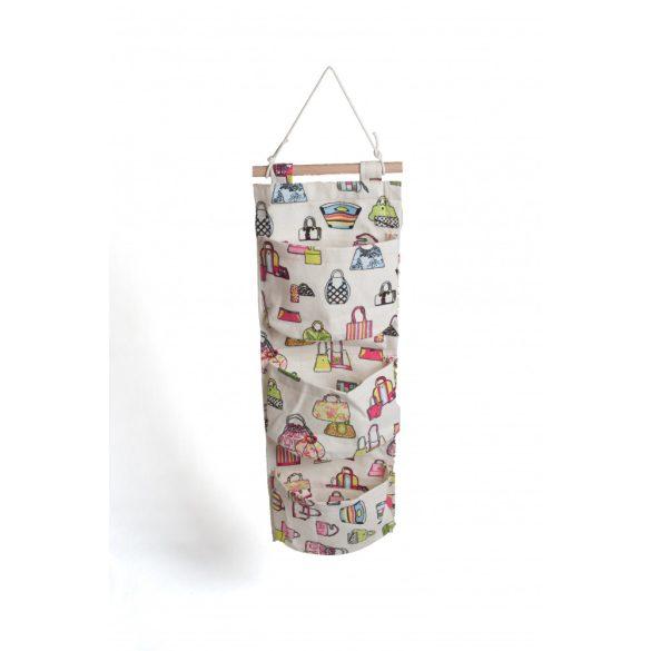 Falra akasztható zsebes tároló - Színes táskák