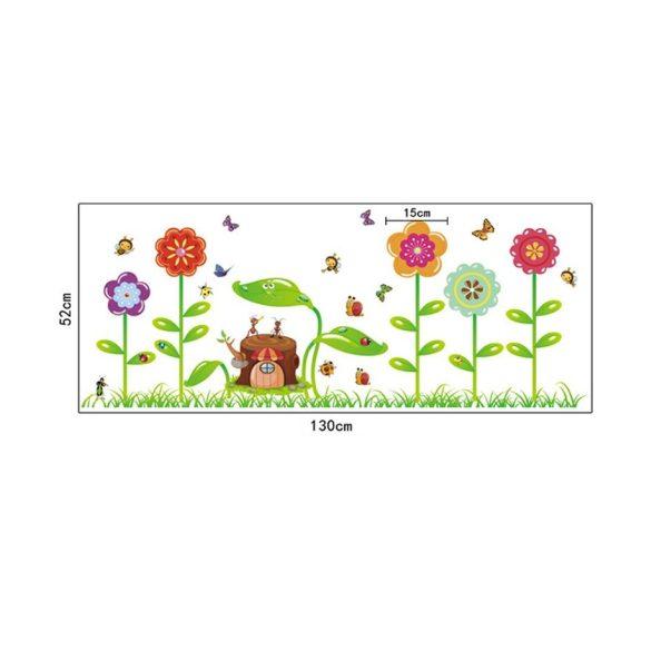 Kisbogarak virágos mezője falmatrica