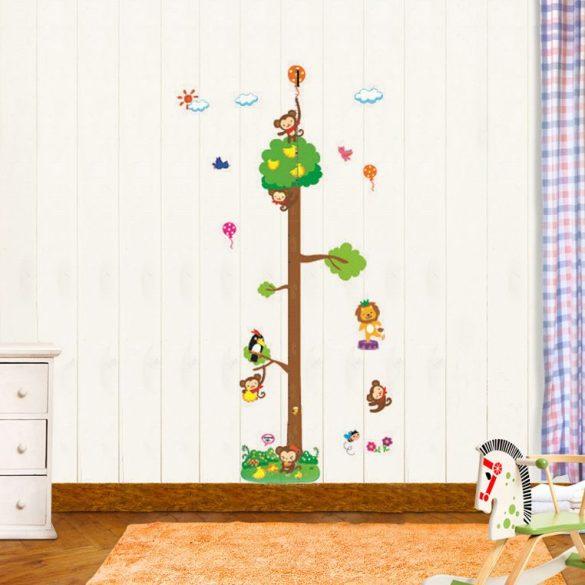 Magas fa majmokkal magasságmérő