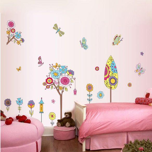 Művészi kert gyerekszoba falmatrica