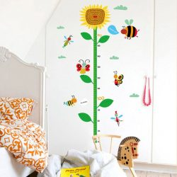Napraforgós magasságmérő falmatrica méhecskével