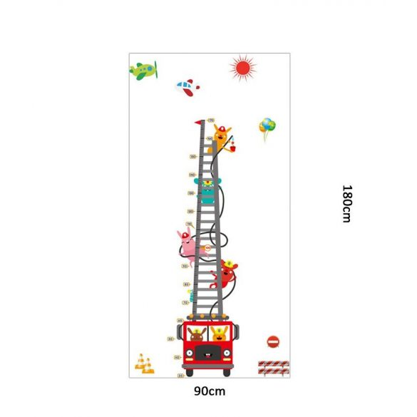 Nyuszik tűzoltóautója magasságmérő falmatrica