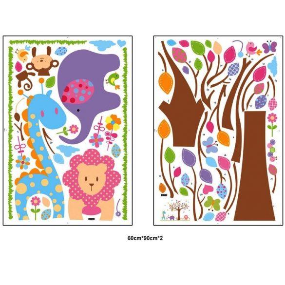 Pasztell fa aranyos állatkákkal