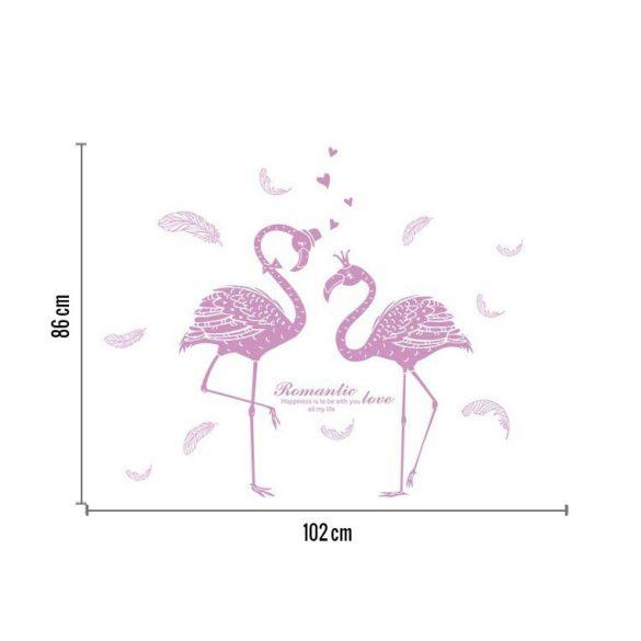 Rózsaszín flamingók falmatrica