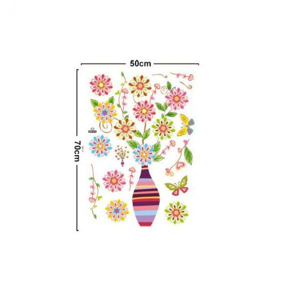 Retro virágok falmatrica