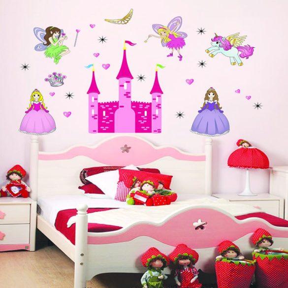 Tündérek és hercegnők palotája falmatrica