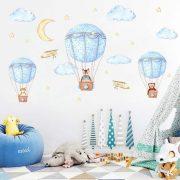 Utazás hőlégballonnal falmatrica