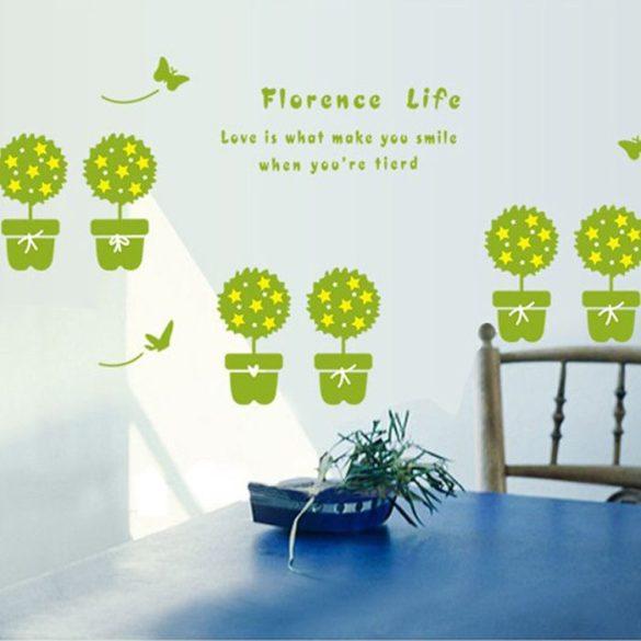 Virágos élet falmatrica