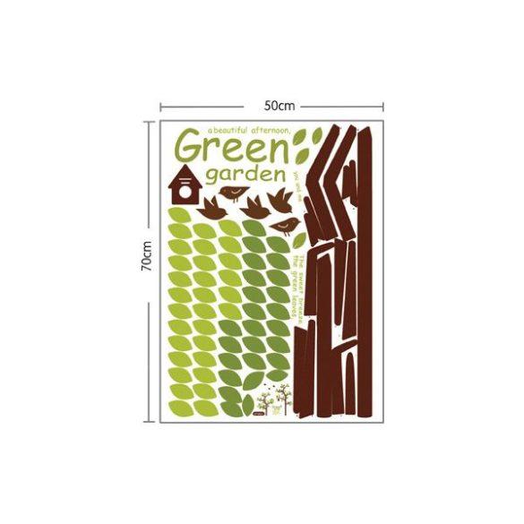 Zöldellő kert falmatrica
