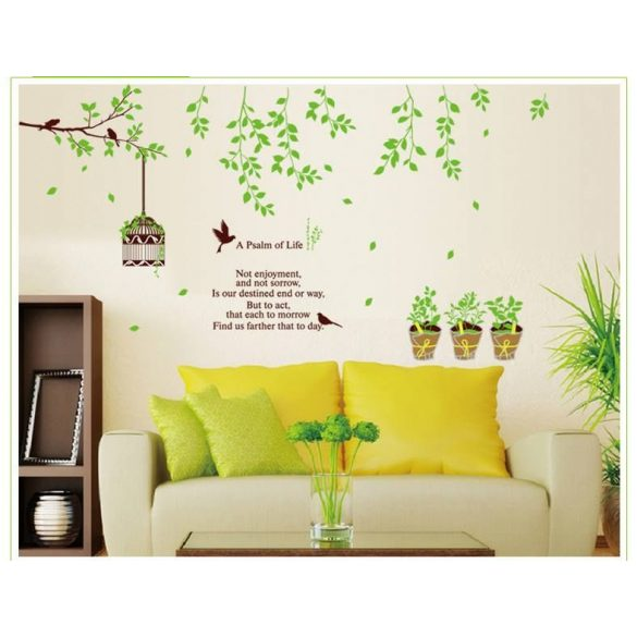 Zöldellő növények falmatrica