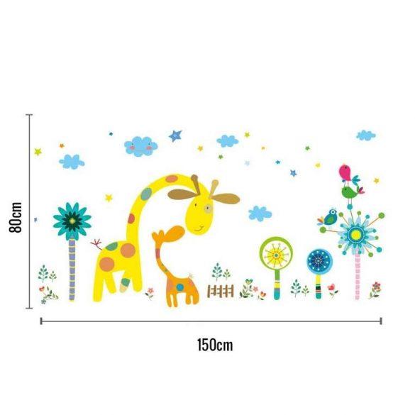 Zsiráfok kertje falmatrica