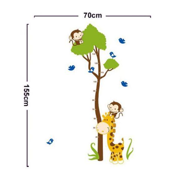 Zsiráf, majom, madarak magasságmérő